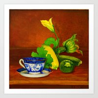 Teacup with Squash Art Print