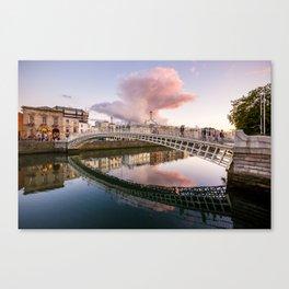 Pink Cloud over Ha'penny Bridge Canvas Print