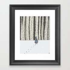 Forest Walk Framed Art Print