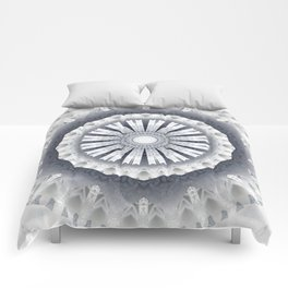 Silver Wedding Inspired Flower Mandala Comforters