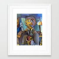 obama Framed Art Prints featuring Obama by Bodie Shaw