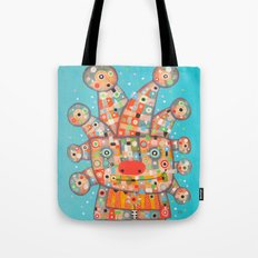Clown with Flower Tote Bag