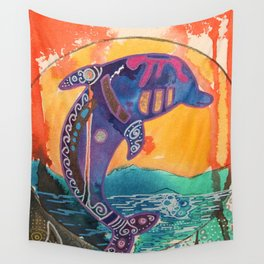 Fantastic animal - Little dolphin - by LiliFlore Wall Tapestry
