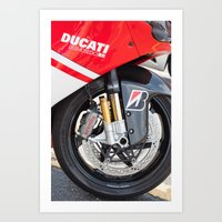 ducati Art Prints featuring Ducati by MrQ@the-continuum.org