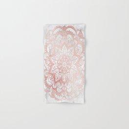 Rose Gold Mandala Star Hand & Bath Towel