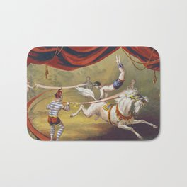 Banner Act - Vintage Circus Art, 1873 Bath Mat