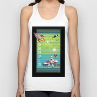 sci fi Tank Tops featuring Sci Fi Summer Surfing by Anderssen Creative Imaging