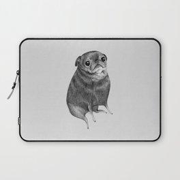 Sweet Black Pug Laptop Sleeve