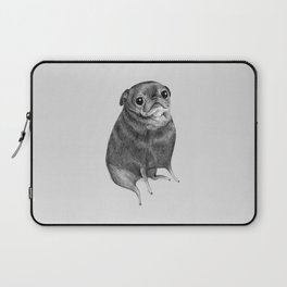 Sweet Black Pug Laptop Sleeve