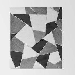 Gray Black White Geometric Glam #1 #geo #decor #art #society6 Throw Blanket