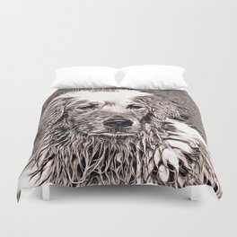 Rustic Style - Dog Duvet Cover