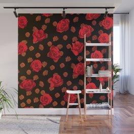 dark roses Wall Mural