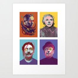 """MARS"" (Miro, Andy, Rene, Salvador), POP art collage, digitally painted Art Print"