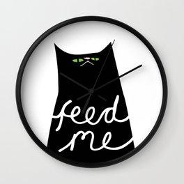 feed me Wall Clock