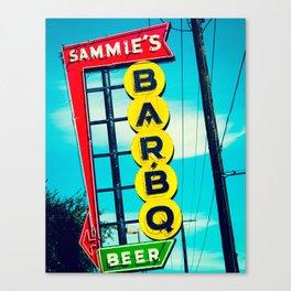 Sammie's BBQ Canvas Print