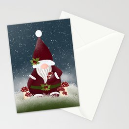 Mr Frosty Forest Nordic Gnome Stationery Cards