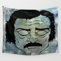 poe Wall Tapestries featuring Poe by Art by Ash