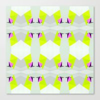 polygon Canvas Prints featuring Polygon Neon by ARTDROID