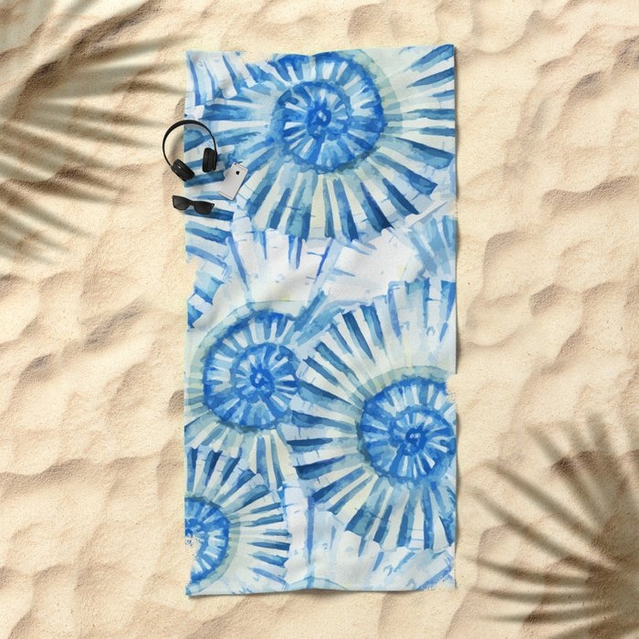 Sea Life Pattern 01 Beach Towel