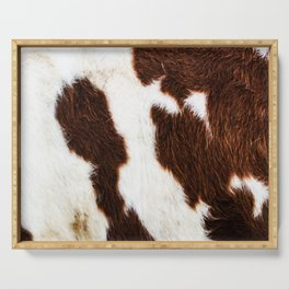 Cowhide Brown Spots Serving Tray