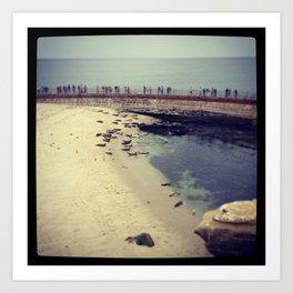 Seal Beach, La Jolla, CA Art Print