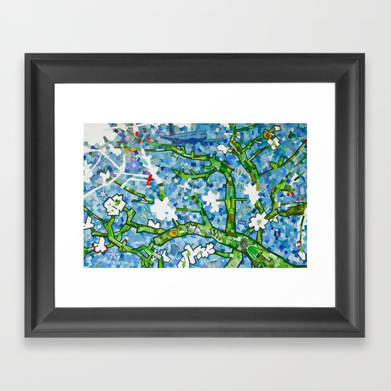 van gogh's almond tree Framed Art Print