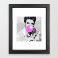 Elvis Bubblegum Framed Art Print
