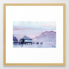 Shack By The Sea Framed Art Print
