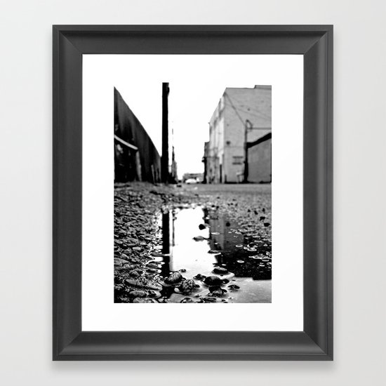 Grit City water Framed Art Print