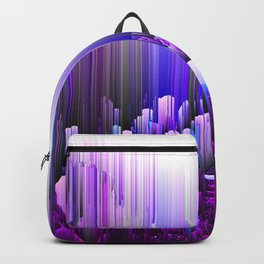 Rain of Lavender - Glitched Abstract Pixel art Backpack