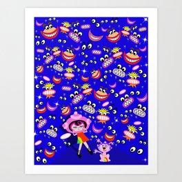 Spaceship Betty Afraid of the Dark Art Print