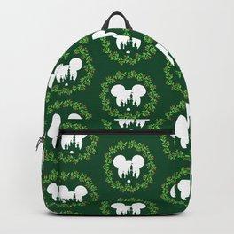 Fairytale Castle Christmas Wreath Mouse Ears Backpack