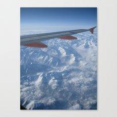 Airplane Alps Canvas Print