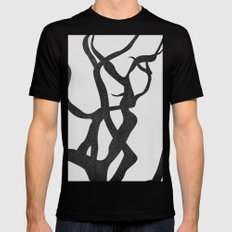 abstract-tree branch 2 Black MEDIUM Mens Fitted Tee