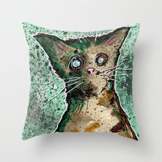 Turtle the turtle shell zombie kitten Throw Pillow