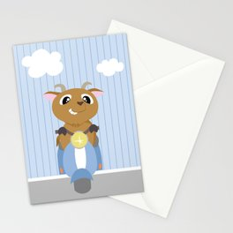 Mobil series scooters goat Stationery Cards