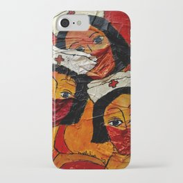 Masked in Fear iPhone Case