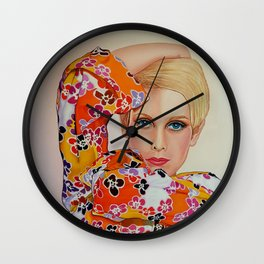 Twiggy 1960's Super Model Wall Clock