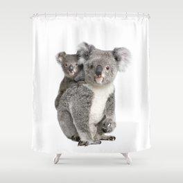 Koala bear and her baby Shower Curtain