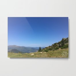 View on the summits Metal Print
