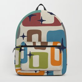 Retro Mid Century Modern Abstract Pattern 224 Backpack