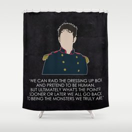 Being Human - Hal Yorke (Soldier edition) Shower Curtain