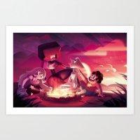 steven universe Art Prints featuring Steven Universe by Attyca