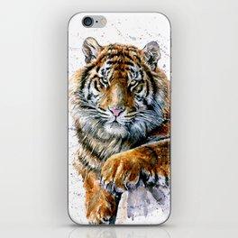 Tiger watercolor iPhone Skin