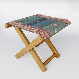 Sivas Antique Turkish Niche Kilim Print Folding Stool