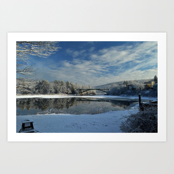 River View - Finally Looks Like Winter Art Print