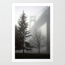 St. Johns Bridge in the fog Art Print