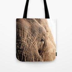 Elephant, into the wild. Tote Bag