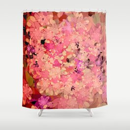 Two Different Worlds -- Floral Pattern Shower Curtain