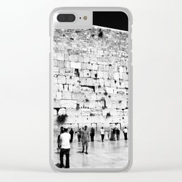 The Western Wall in the Old City, Jerusalem, Israel Clear iPhone Case